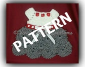 INSTANT PDF DOWNLOAD-Crochet baby girl dress pattern for 0-3 months size,crochet baby girl dress pattern,dress pattern,crochet dress pattern