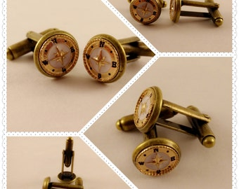 Compass Cuff Links