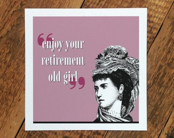 Retirement Card For Her; Retirement Card For Women; Retiring Card; Retirement Card For Mum; Work Colleague Card; GC247