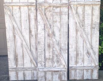 Weathered Barn Door Shutter Set