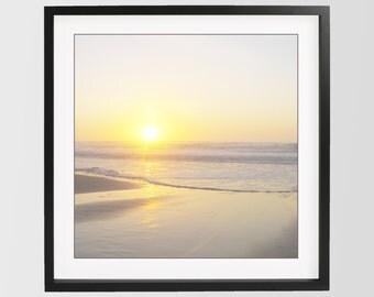 Yellow Beach Photo Print San Francisco Beach Photo Download Sunset Print California Beach Photography Minimalist Print Yellow Home Decor