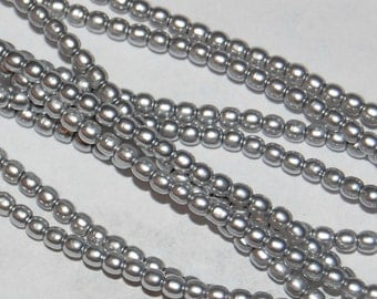 2mm Glass PEARLS 70483, Platinum, sold in units of approx 300