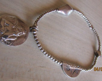 Sterling Silver Stretch Bracelet with Angel Charm