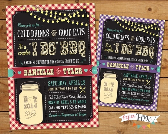 Western I Do BBQ Wedding Shower Invitation