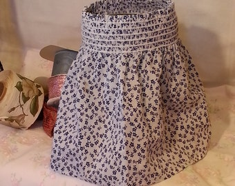 Vintage Blue Calico Smocked Sundress Boho Top Dress 2T