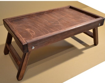 Handmade Rustic Wooden Laptop Table / Computer Table / Breakfast in bed tray / laptop stand