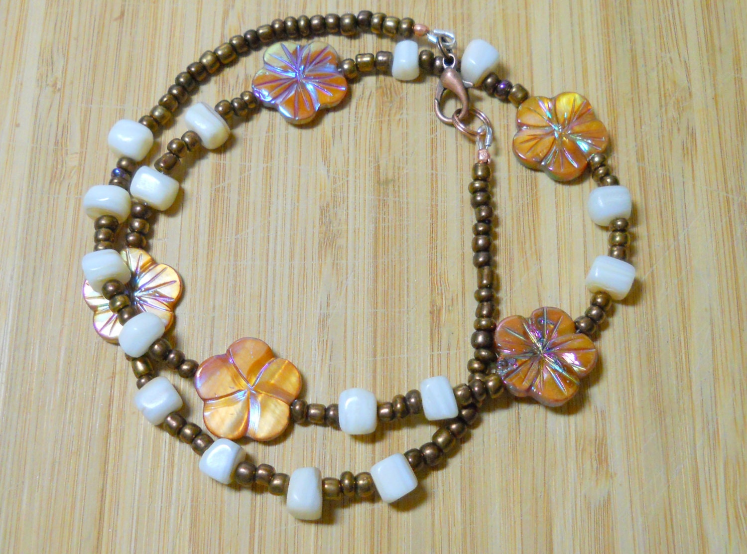unique artisan handmade jewelry beaded necklace by