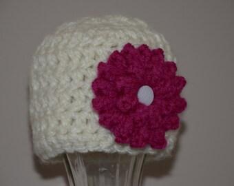 Crochet Newborn chunky hat, Crochet Chunky Hat, Chunky Newborn Hat