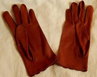 Beautiful Vintage Brown Wear-Right Ladies' Gloves