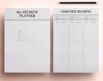 50% OFF College Student Planner Printables Letter Size