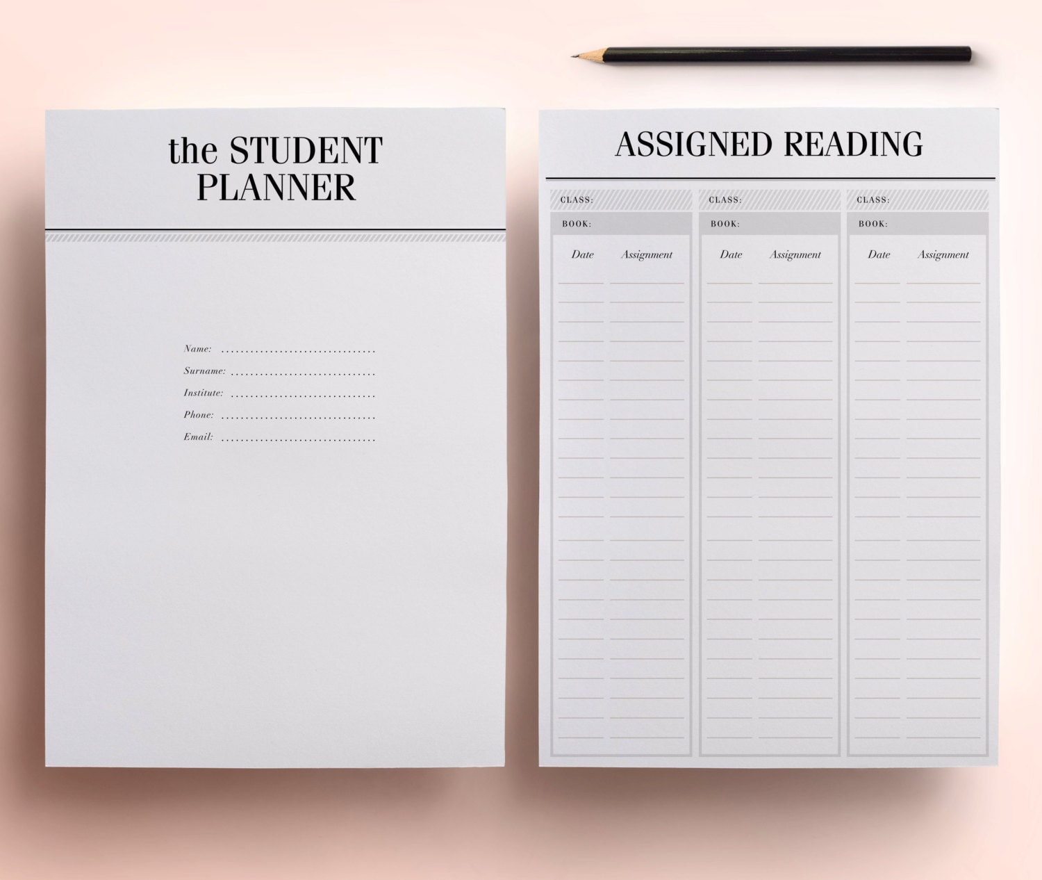 Student Planner A4 / A5 College Planner Printable Student