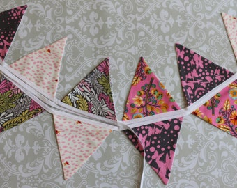 Pink funky bunting