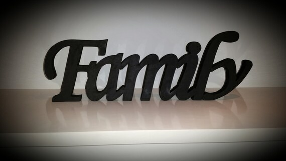 Wood Word Family Wood Sign Wooden Letters Home Decor Wall Art