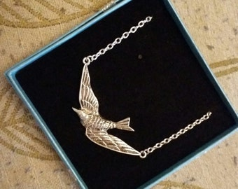 Flying Swallow Pendant Necklace