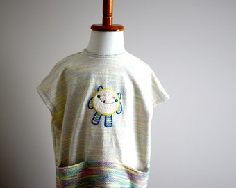 Super Q monster embroidery T-shirt