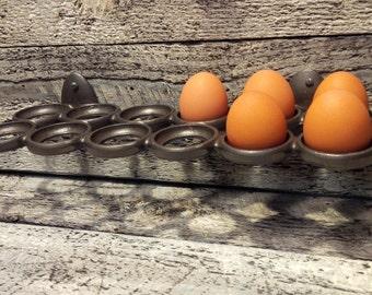 "Cast Iron Egg Tray Holder 13"""