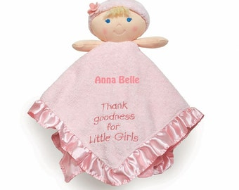 Kids Preferred Thank Goodness for Lil Girls Baby Blankey Security Blanket - Personalized