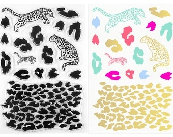 Clear Stamps - Leopard - Spots, Pattern & 3 Leopards!