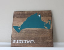 Martha's Vineyard Wood Sign, State Sign, Custom Wood Sign, Pallet Sign, Personalized Wood Sign, home decor, wall art, moving gift