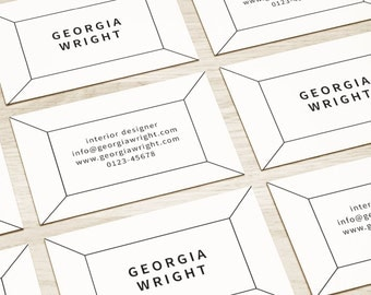 Premade Business Card Cards Design Custom Business Simple Black White Branding Business designCustom Graphic Calling Modern Printable DIY