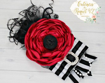 Lady Cruella De Vill Inspired Headband