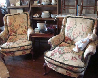 Vintage Lewittes and Sons Arm Chairs