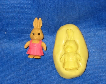 Rabbit Push Mold Rein Candy Paper Clay Chocolate Fondant Wax #28