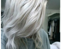"Balayage Dip Dye 8A Remy Human Virgin European  Ombre Dip Dye U Part Clip In Wig Platinum Blonde Colour 60  Reverse Silver Grey 20"""
