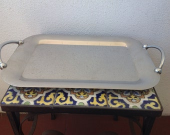 Stainless Lauffer Towle Tray Italy mid cenury MCM