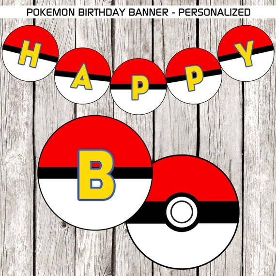 banni re anniversaire pokemon personnalis pokemon. Black Bedroom Furniture Sets. Home Design Ideas