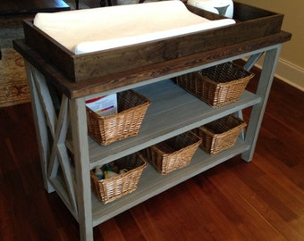 Rustic X Baby Changing Station!!