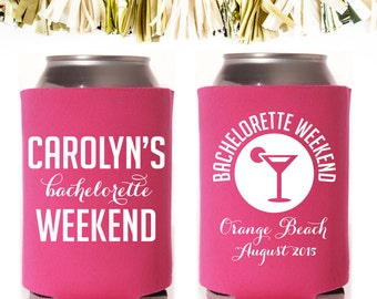 Bachelorette Party Martini Favors: Custom and Personalized Can Cooler // Margarita Script