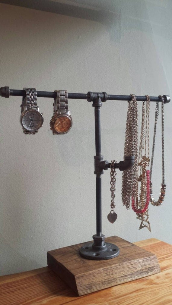 Exhibition Stand Industrial : Industrial pipe jewelry stand by pipeandwooddesigns