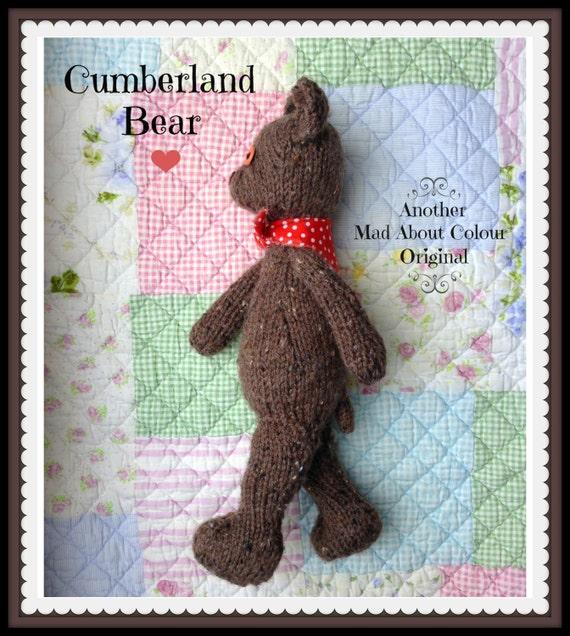 Knitting Patterns Teddy Bear Stuffed Animals : Teddy Bear KNiTTING PaTTERN PiC TuTORiAL Heirloom Child Soft