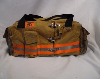 Firefighter Used Gear Duffle - Made from Recycled Turnout Gear