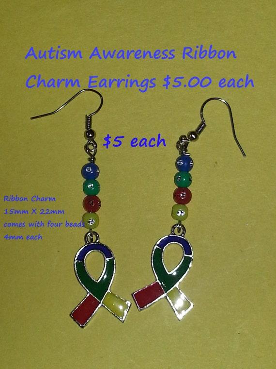 autism awareness earrings by kawaiidesigns2 on etsy