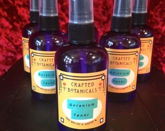 Handmade Organic Geranium Toner 4 oz