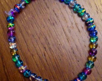 Oil drizzle bead bracelet