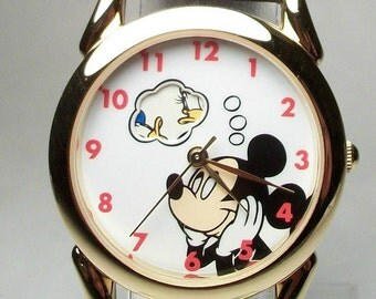 New Vintage Animated Daydreaming Mickey Mouse Watch!  HTF! Gorgeous!