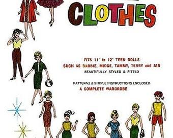 """Mix N' Match Wardrobe for 11-1/2"""" Dolls"""