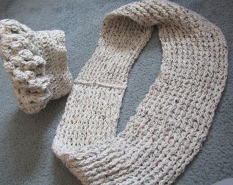 Crocheted Hat and scarf set