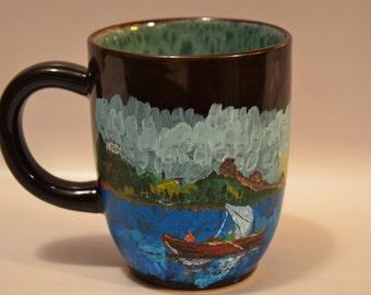 Sailing Painted Mug