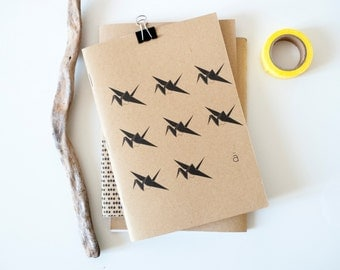 Notebook Grue / Kraft / Journal / Diary / recycled paper