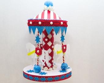 Carnival Carousel Cake Topper