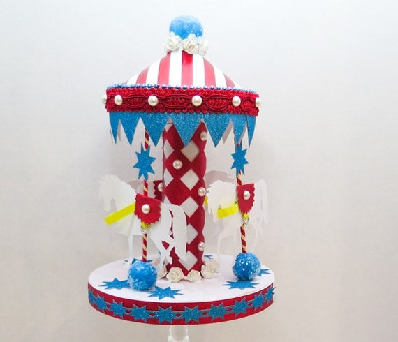 Circus Carousel Birthday Party Cake Decorations Birthday