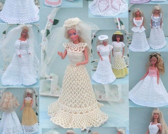 Crochet Fashion Doll Barbie Pattern- #281 BRIDAL BOUDOIR MAGAZINE
