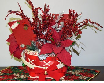 Christmas Floral Arrangement, Table Decoration,Remember , Ready to Ship!