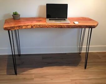 konsole tisch wald schreibtisch anlage stand sofa von coolwoodbc. Black Bedroom Furniture Sets. Home Design Ideas