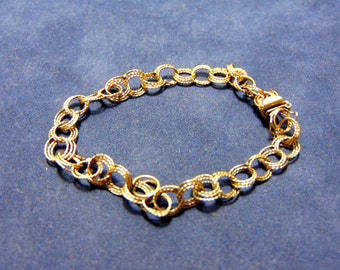Lovely Vintage Estate 14K Yellow Gold Chain Bracelet, 5.15g E2017