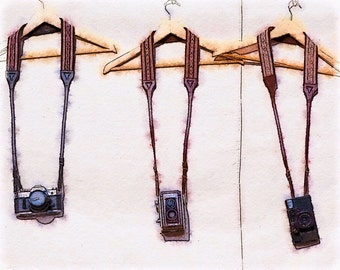NEW! Cameras on Hangers: A Photo Watercolor Art Print